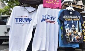 Trump and Clinton t-shirts