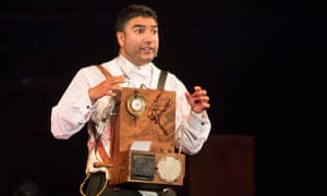 Nick Mohammed performs Mr Swallow and the Vanishing Elephant at Edinburgh festival in 2018.