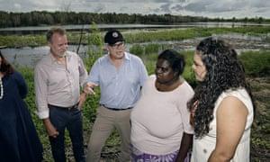 Scott Morrison travelled to Jabiru to announce the Coalition's $216m funding package to revitalise Kakadu