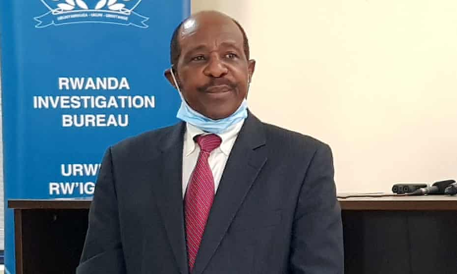 Paul Rusesabagina after being detained in 2020.