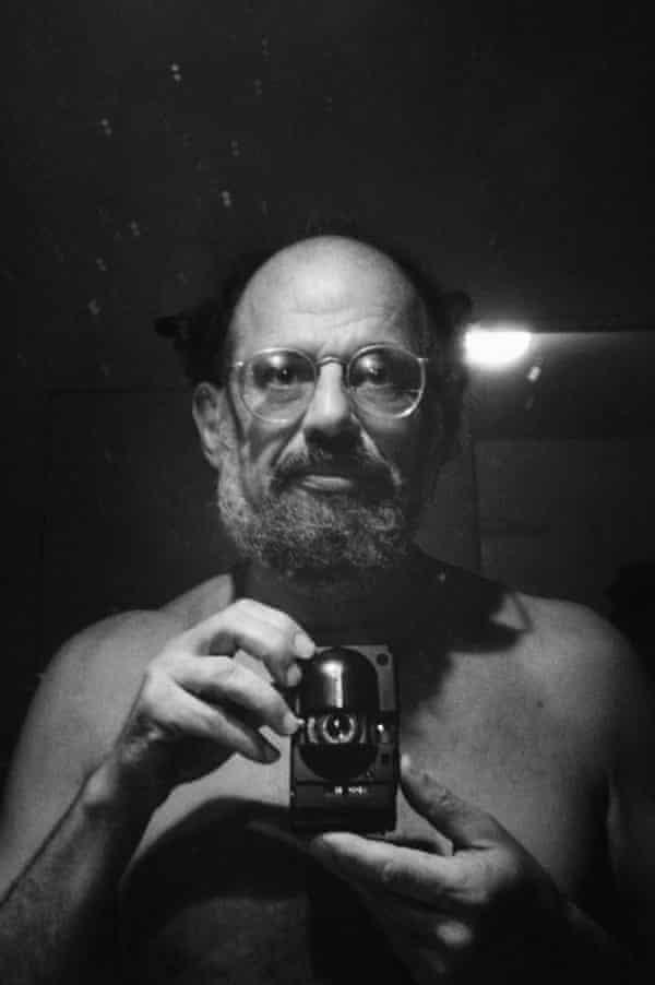 Allen Ginsberg takes a self portrait