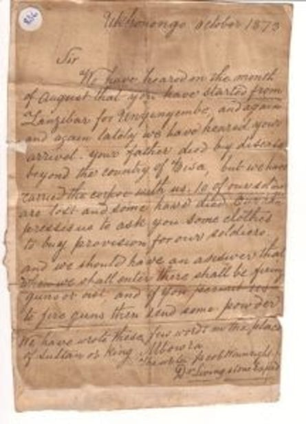 A page from Jacob Wainwright's diary