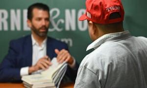 New Deal? … Donald Trump Jr signs copies of Triggered.