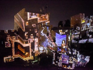 A cinematic production called King David is projected on the walls and archeological excavations of the ancient citadel in the Tower of David Museum in the Old City.