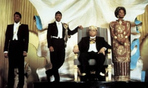 The 1988 film Coming to America, with Arsenio Hall, Eddie Murphy, James Earl Jones and Madge Sinclair.