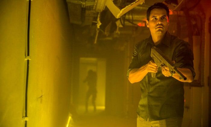 Extinction review – splashy alien invasion thriller crash lands on