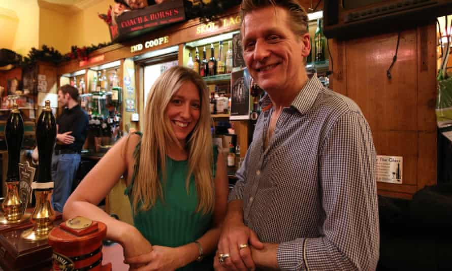 Alastair Choat, landlord of the Coach And Horses in Soho, London, and his daughter Hollie.