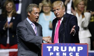 Back to the future: US president-elect Donald Trump and interim Ukip leader Nigel Farage at a pre-election rally.