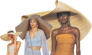 The bigger the better: giant straw hats for SS18.