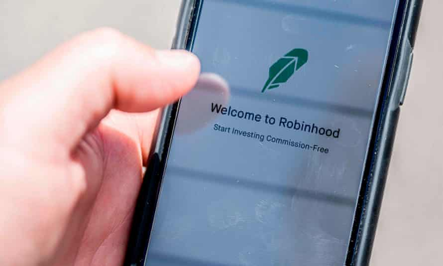 The Robinhood investment app on a smartphone