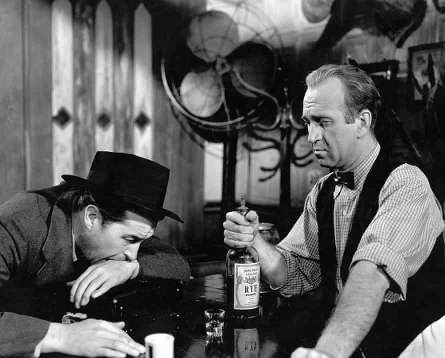 Ray Milland and Howard Da Silva in Billy Wilder's The Lost Weekend (1945).