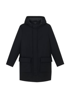 black quilted parka
