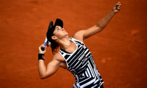 Ashleigh Barty at the French Open