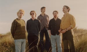 Fontaines DC (from left) Tom Coll, Conor Deegan, Carlos O'Connell, Conor Curley, Grian Chatten.