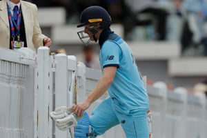 With captain Morgan gone, England had fewer than 27 overs to turn the game around and win the World Cup