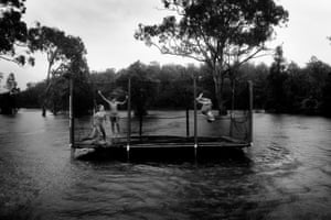 Resilience in FloodwaterChildren take to the trampoline in floodwaters after the Manning River on the NSW mid-north coast broke its banks, inundating properties across the region and destroying homes and countless livestock. Impacted by bushfires the previous year, the resilience and spirit of the local children never dampened. Bohnock, NSW