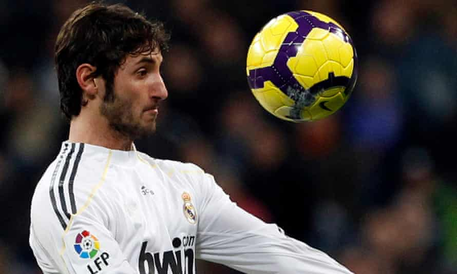 Esteban Granero during his time at Real Madrid. He says: 'We've built a model that estimates and predicts the number of cases and tracks the evolution of those numbers.'