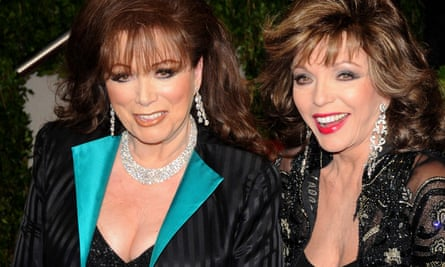 Jackie and Joan Collins, side by side, at the 81st Annual Academy Awards Vanity Fair Party, in Los Angeles, 2009