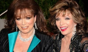 Jackie Collins (left) only told her sister, Joan, about her terminal cancer a few weeks before she died