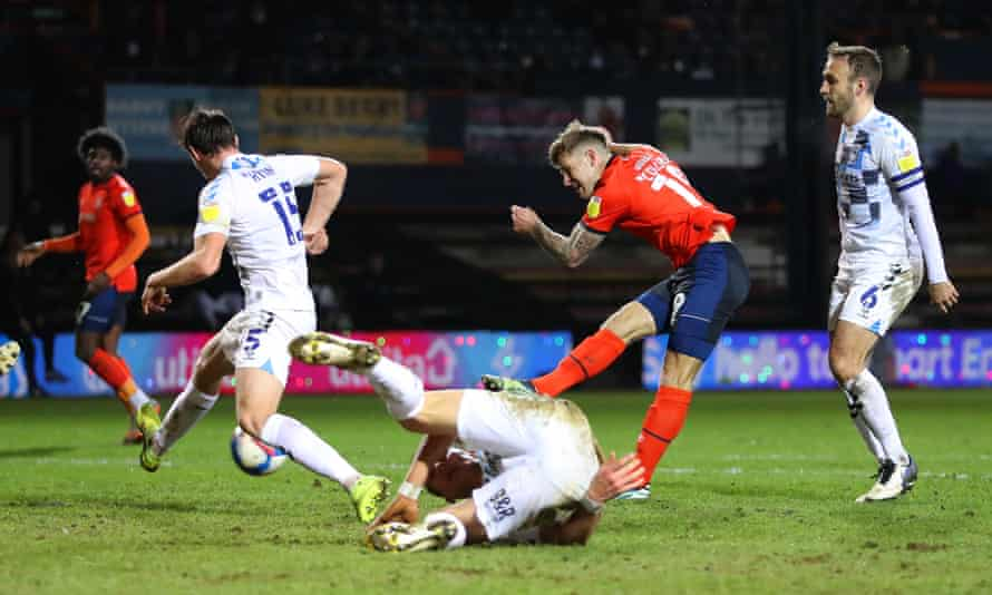 Luton and Coventry in action in the Championship last month.