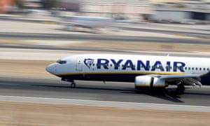 A Ryanair Boeing 737-800. The airline has grounded at least three of its Boeing 737s due to cracks between the wing and fuselage. The global cracking problem has affected at least 50 planes from a number of airlines.
