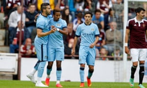 Scott Sinclair and Alvaro Negredo of Manchester City (centre and left, respectively) had mixed fortunes: Negredo had one good half season, but Sinclair's career never took off at the Etihad.