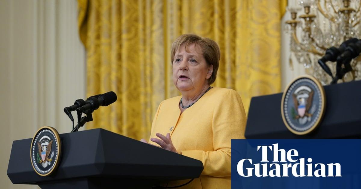 Merkel and Biden express sympathy for German flood victims – video