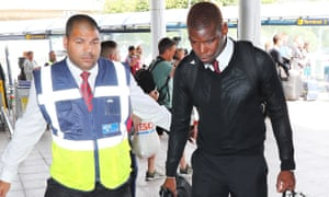 Paul Pogba arrives at Manchester Airport for his side's pre-season tour.