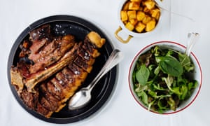 'There is a crispness to the fat that crunches and melts': Marchigiana T-bone steak for two.