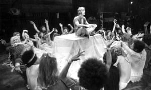 A scene from the musical Hair, starring Paul Nicholas (centre), in 1968