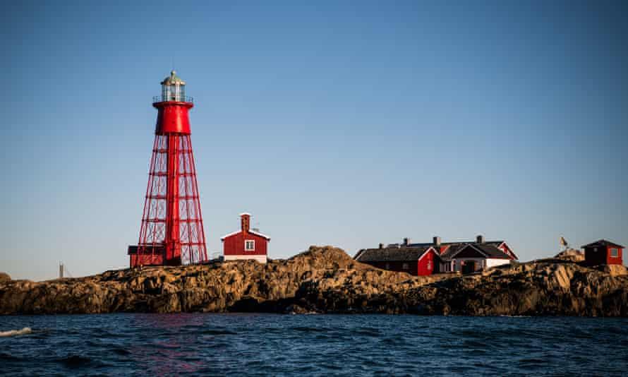 The Pater Noster lighthouse on the island of Hamneskar off Sweden's west coast.