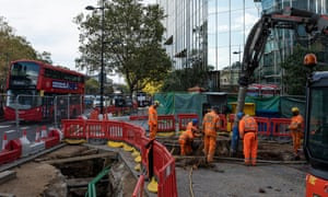 HS2 workers near Euston station, where cost overruns would be incorporated into the contingency fund, said the minister for HS2, Andrew Stephenson.