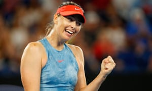 Maria Sharapova was proud of her performance against her old enemy Caroline Wozniacki, who who the Australia Open last year.