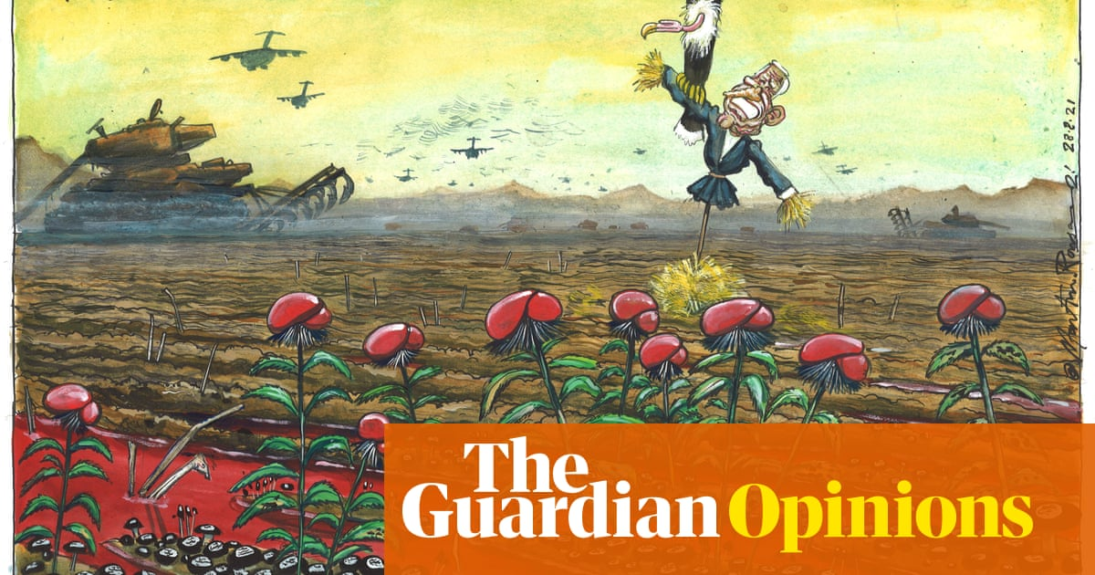Martin Rowson on the US and UK withdrawal from Afghanistan