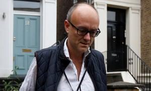 Dominic Cummings outside his home in London last week.