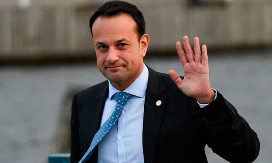 Leo Varadkar, Ireland's taoiseach, was told by the Sun to keep his 'gob' shut.
