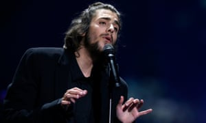 Salvador Sobral performing Portugal's winning song in last year's Eurovision song contest in Kiev, Ukraine.