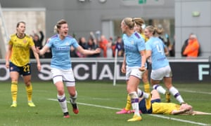 Ellen White is leading Manchester City towards the WSL title and a place in the Women's Champions League.