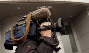 A television cameraman