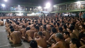 Cebu, Philippines Naked inmates in the city jail