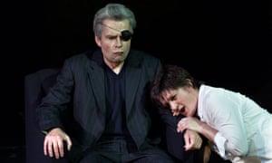 Mathew Best as Wotan and Elizabeth Byrne as Brunnhilde in Scottish Opera's 2001 production of Die Walküre.