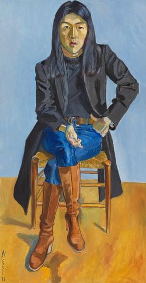 Ron Kajiwara, 1971, by Alice Neel