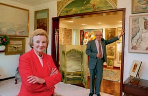 Lady Sheila Cruthers and Sir James Cruthers at their women's gallery in Perth in 1995. Their son John has now launched the Sheila Foundation, dedicated to redressing the imbalance of Australian women in art history.