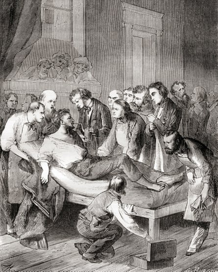 The first public demonstration of the use of inhaled ether
