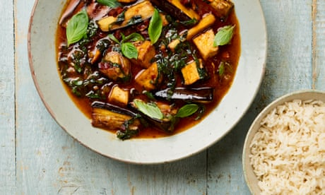 Meera Sodha's vegan recipe for Thai red curry with aubergines, tofu and rainbow chard