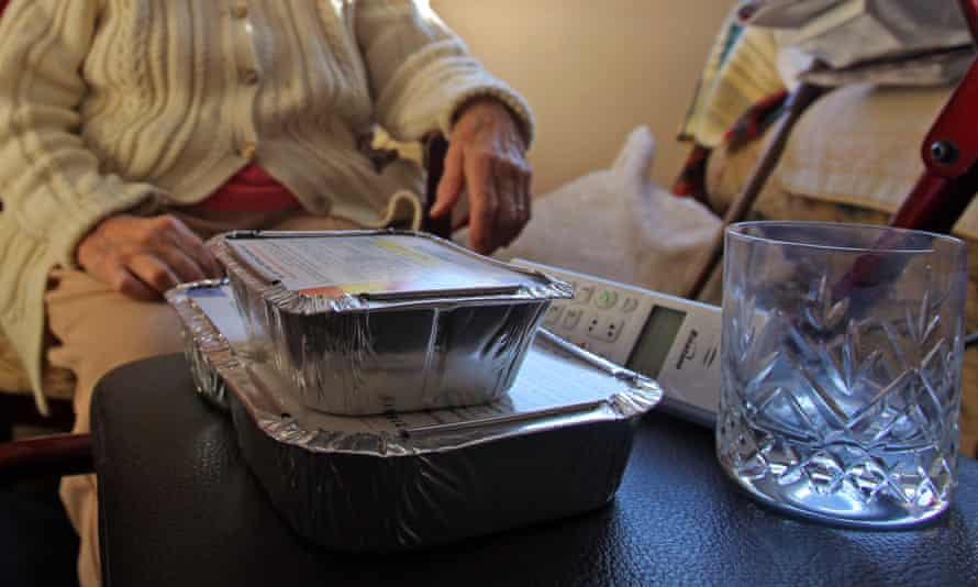 Meals on wheels for elderly person
