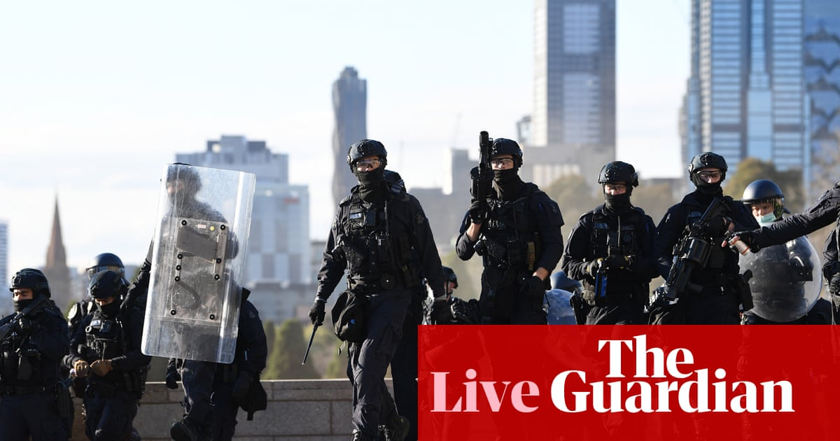Australia Covid live news: NSW to give update; Victoria's highest ever daily cases; Melbourne enters fourth day of protests