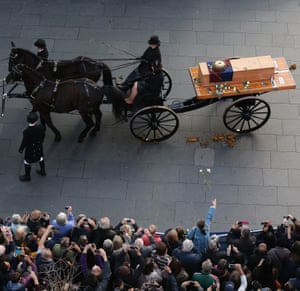 The coffin containing the remains of King Richard III