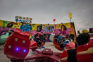 Young couples at a theme park on the banks of the Tigris in Mosul, Iraq, 2018