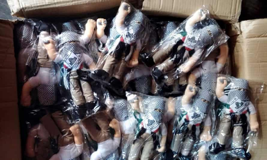Some of the dolls seized at Haifa port